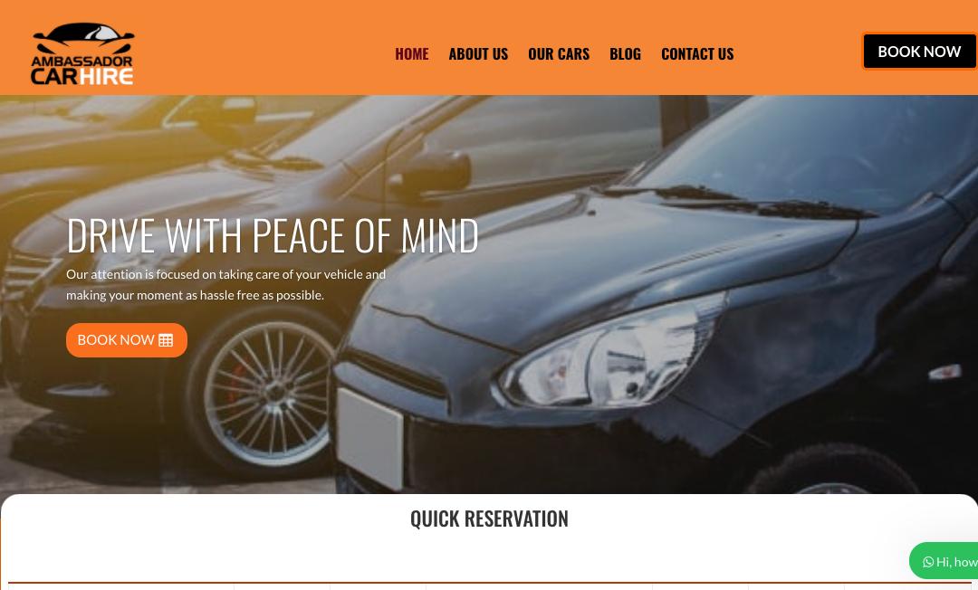 Car Rental Company in Malawi Website